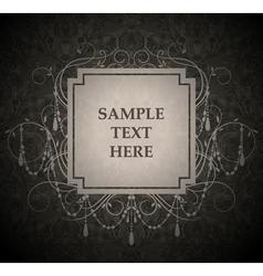 vintage label vector image
