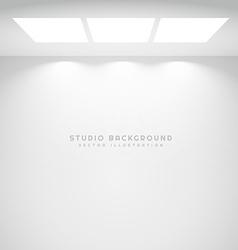 white studio lights background vector image
