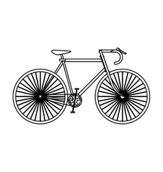 Single bike icon vector