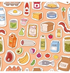 Everyday food seamless pettern vector