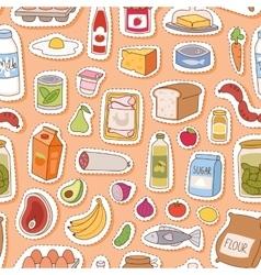 Everyday food seamless pettern vector