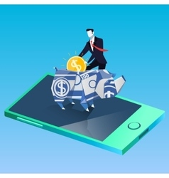 Finance and business success concept vector