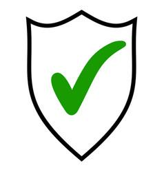 Shield check mark logo icon design template vector
