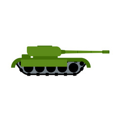 Military tank isolated war equipment army ground vector