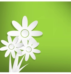 Spring flowers on green background vector