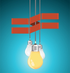 Creative template with light bulb vector