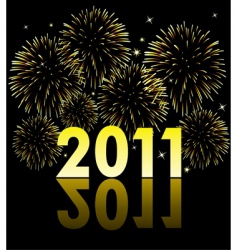 2011 with fireworks vector image