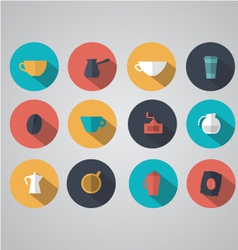 Design coffee icons vector