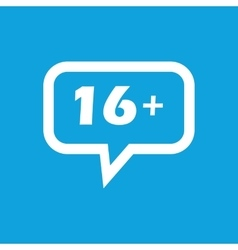 16 plus message icon vector