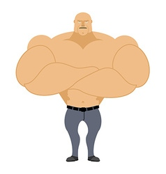 Strong man bodybuilder athlete on a white vector