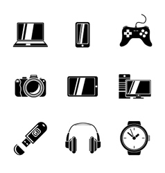 Set of gadget icons with - notebook phone vector