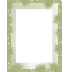 Christmas border frame vector