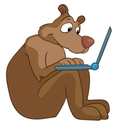 Cartoon character bear vector