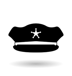 Police hat design vector