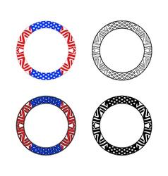 Usa circle frame collection vector