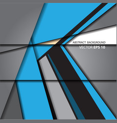 Abstract arrow blue on gray background vector