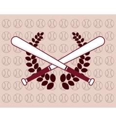 Baseball wreath bats vector