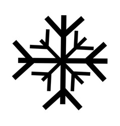 Black icon snowflake cartoon vector