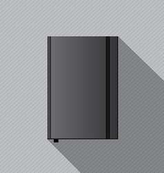 Blank notebook cover template vector