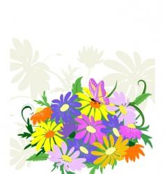 Bouquet wildflowers vector