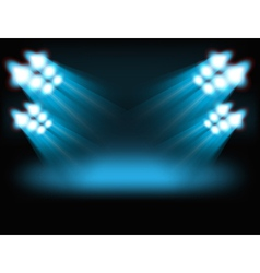 Bright spot lights vector image vector image