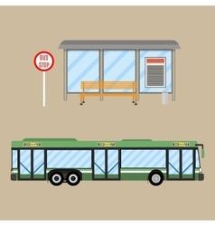 Bus stop set vector