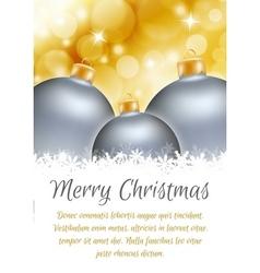 Christmas ball poster card vector image vector image