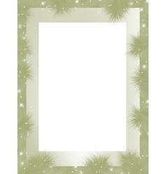 christmas border frame vector image