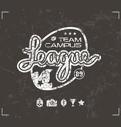 College rugby team emblem vector image vector image