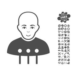 Cyborg interface icon with tools bonus vector