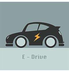 eco racing car future of design concept vector image
