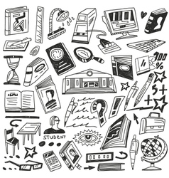 education books - doodles vector image vector image