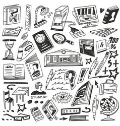 education books - doodles vector image