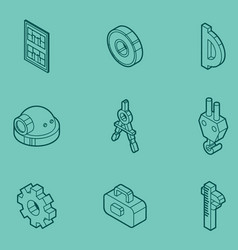 Engineering outline icons vector