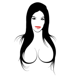 Erotic girl vector