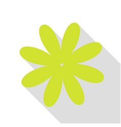 Flower sign pear icon with flat vector