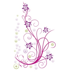 Flowers abstract vector