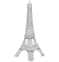 Hand drawn eiffel tower vector