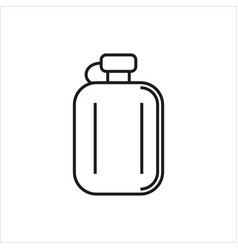 Hip flask simple icon on white background vector
