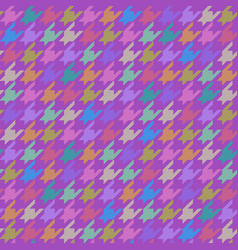 Houndstooth pattern multicolor vector
