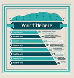 infographics elements - bar charts line chart vector image