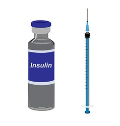 Insulin and syringe vector