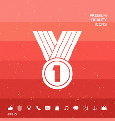 Medal symbol icon vector