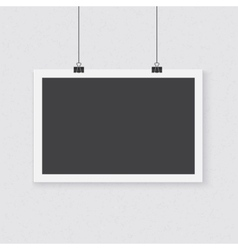 Photorealistic poster template realistic vector