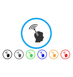 Radio neural interface rounded icon vector