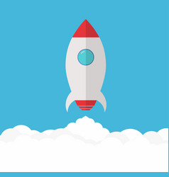 rocket launch project startup and development vector image vector image