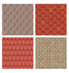 Roof tiles of classic texture and detail house vector
