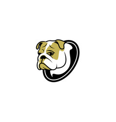 sad dog logo vector image vector image
