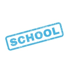 School rubber stamp vector