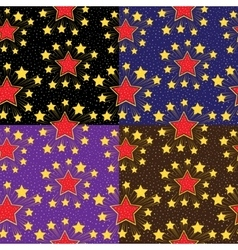 Seamless pattern with stars Set backgrounds vector image vector image